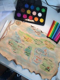 Een landkaart over het leven. The map of life