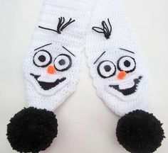 Looking for your next project? You're going to love Olaf Frozen Snowman Crochet Scarf by designer wistfullywoolen.
