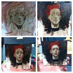 Creating a teensy portrait of Vikki by Sean Cheetham