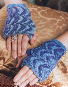 Chevron Mitts crochet pattern