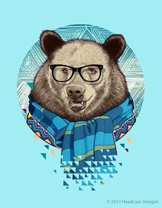 ARTIST OF THE DAY: Bernard Salunga, Philippines http://www.behance.net/bernardsalunga Brrrr! Are you wrapping up for winter? This bear certainly is and we think he looks epic! How about you? #art #graphics #animals #bear