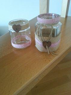 Riciclo creativo vasetti vetro