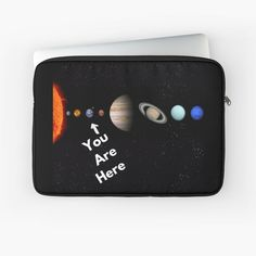 'Solar System Map' Laptop Sleeve by Personal Product Designers Solar System Map, Back To Black, Laptop Sleeves, Designers, Map Of Solar System
