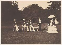 [Group at the Château de la Faloise] 1857