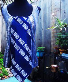 Tie Shirt Tank Top - Repurposed Mens Neckties - Sequins and Navy Paisley via Etsy
