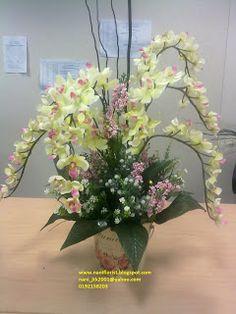 Nani Florist Jambangan Bunga Artifical Khas Untuk Hari Raya Orchid Arrangementsorchidslilyorchid