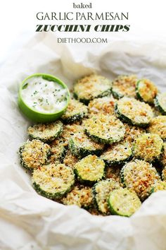 Baked Garlic Parmesan Zucchini Chips - WomansDay.com