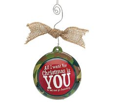 """Hunters Camouflage Christmas Tree Ornament with """"All I Want For Christmas Is You To Let Me Go Hunting ** Want additional info? Click on the image."""