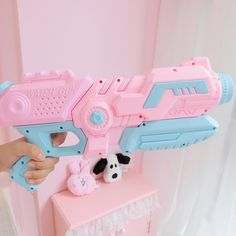 kawaii pastel pink + blue lolita water squirt gun from Chocolat Vanille Grunge Style, Soft Grunge, Blue Cotton Candy, Pastel Punk, Outdoor Toys For Kids, Abbey Dawn, Tokyo Street Fashion, Jugend Mode Outfits, Le Happy