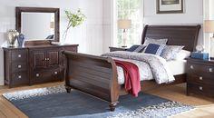 Summer Grove Espresso 5 Pc Queen Sleigh Bedroom