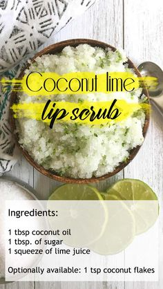 Ingredients VV 1 tbsp coconut oil 1 tbsp of sugar 1 squeeze of lime juice Optionally available 1 tsp coconut flakes VV You ll feel as if you re scrubbing within the Caribbean with this lips scrub lipsrub coconutoils sugarscrubs Skin Care Acne, Diy Skin Care, Diy Body Scrub, Diy Scrub, Lip Scrub Homemade, Homemade Skin Care, Image Skincare, The Body Shop, Coconut Flakes