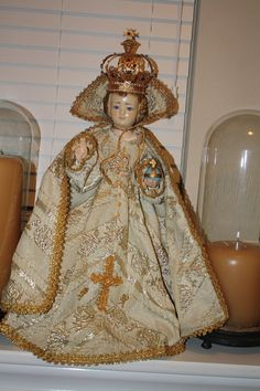 Antique Infant Jesus of Prague Statue with GLASS by MoxieAntiques, $650.00