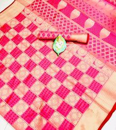 Banarasi Weaving Silk Handloom Patola Chex Saree in Pink Color - gnp006316 | TO BUY THIS BEAUTIFUL OUTFIT CONTACT US / WHATS APP US ON : +91 9898133588 || EMAIL US AT grabandpack@gmail.com || you can visit on www.grabandpack.com | #style #chennai #cotton  #sareeinspiration #patola #rajyog#sareesonline #bridalsarees #pet #rakhigift #indiansarees #sareeseduction #printedsaree #saree2020 #2020trending #mulberrysilk #rakhi2020 #resham #handloom #woven #weaving #silk Navratri Dress, Handloom Weaving, Rakhi Gifts, Wedding Dress Chiffon, Soft Silk Sarees, Silk Sarees Online, Mulberry Silk, Saree Collection, Pattern Making