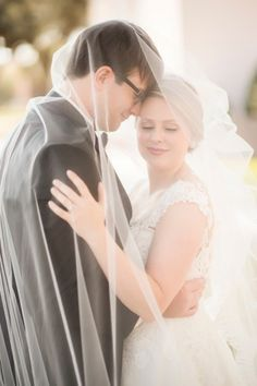 Go chapel length and make the bridal veil big enough for two to share!