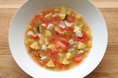 夏野菜とかじきまぐろのプロヴァンススープ