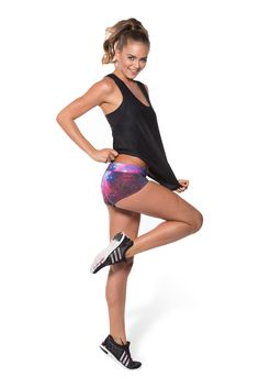 Galaxy Purple Short Shorts (WW ONLY $40AUD) by Black Milk Clothing