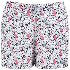 Boohoo Runa Floral Flippy Shorts   Boohoo ($10) ❤ liked on Polyvore featuring shorts, sequined shorts, stretch waist shorts, floral print shorts, sequin hot pants and embellished shorts