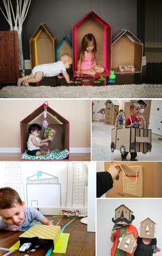 Cajas de cartón: Todo un juego de niños… | Comparte Mi Moda