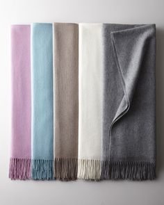 Woven Cashmere Throws