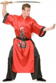 Deluxe Samurai Black & Red Costume