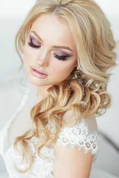 long hairstyle for wedding - Deer Pearl Flowers