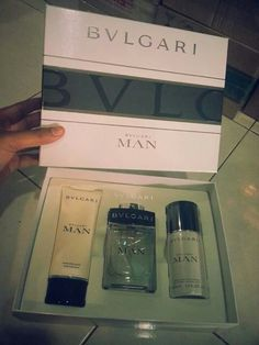 READY STOCK  SET BVLGARI MAN Lotion after shave +100ml perfume + deodorant RM270