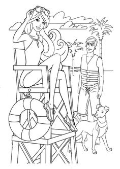 Barbie Colouring Pages Printable Dancer Coloring Page See More Ausmalbilder Mit Ken 19