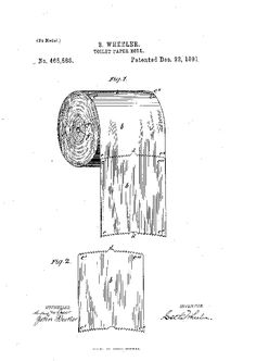 A 1891 patent about which way to hang toilet paper