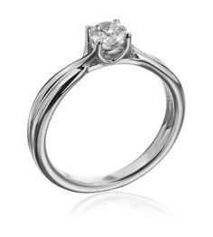 Hearts On Fire - Simply Bridal Collection 18K White Gold Twist Semi-Mount