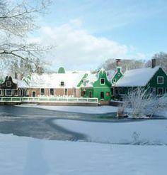 Koopmanshuis in de winter
