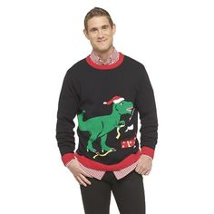 Target.com - Ugly Christmas Men's Dinosaur Pullover Sweater - 10% off with promo code UGLY10 Want this!