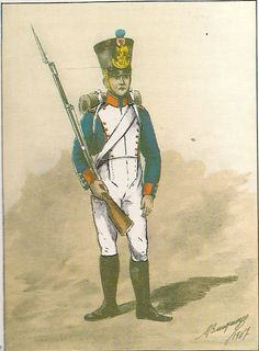 French; 153rd Line Infantry, Fusilier, Grande Tenue, Prieur mentioned in Daily Orders after the Battle of Halle,2nd May 1813