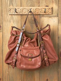 Free People Chain Reaction Leather Bag