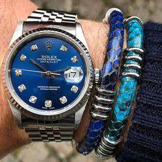 REPOST!!!  True blue with diamonds for my daily wristgame ➡️ Vintage Rolex Date Just ✖️ @shopzenger double Python bracelets 🔵💎🌀 TGIF 🙌🏻 🌐 🌐 🌐 🌐 🇮🇹 have a nice day my friends 🇮🇹 ➖➖➖➖➖➖➖➖➖➖➖➖➖➖➖➖➖➖➖ #rolexaholics #malefashion #menstyleguide #womw #preppy #zenith #entrepreneurs #cartier #myoutfit #montre #santamonica #moneymaker #luxurybrand #ootdmen #prestige #dandy #luxurystyle #chronograph #thebillionairesclub #watchfreak #moneymotivated #menwear #bloggerstyle #wristgame #iwc…