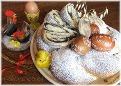 Velikonoční makové věnce Czech Recipes, Russian Recipes, Easter Recipes, Mexican Food Recipes, Rolls, Bread, Chocolate, Baking, Breakfast
