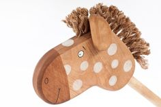 Wooden Hobbyhorse safe kids toy por FriendlyToys en Etsy, $39.00