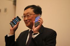 "The New BlackBerry ""Classic"" and ""Passport"" is going to the world. BlackBerry CEO John Chen shows off upcoming blackberry"