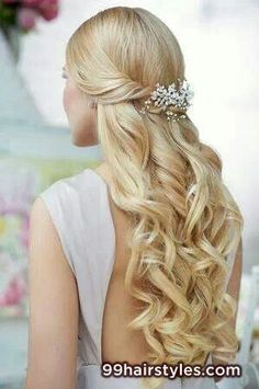blonde wedding hairstyle idea - 99 Hairstyles Ideas