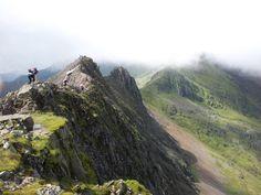 Crib Goch, Snowdonia, Wales University Of Wales, Snowdonia, North Wales, Outdoor Stuff, British Isles, Geology, Crib, Travel Inspiration, Travel Destinations