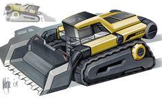 heavy equipment renderings - Google Search