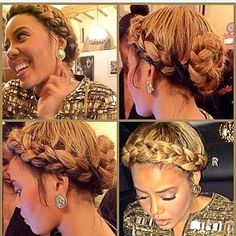 STYLIST FEATURE| Love this golden greecian braid on @angelasimmons done by #hairstylist @infamousmstish! GORGEOUS ========================= Go to VoiceOfHair.com ========================= Find hairstyles and hair tips! =========================
