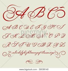 Alphabet Calligraphie Gratuit 100 meilleures images du tableau calligraphie alphabet | fonts