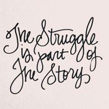 The Struggle is part of the story. www.Pammapalooza.com blog post