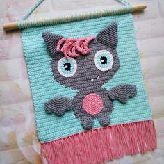 Halloween Crochet Patterns, Crochet Patterns Amigurumi, Crochet Toys, Cute Crochet, Crochet Baby, Baby Wall Decor, Nursery Decor, Crochet Wall Art, Wall Patterns