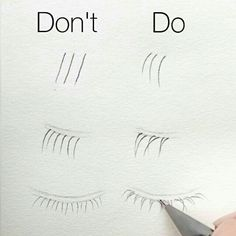Do's and don'ts for drawing eylashes