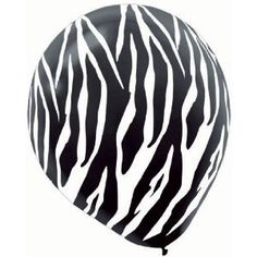 When your party has a wild theme, pick up Zebra Black & White Latex Balloons. The zebra-patterned balloons are great for parties with animal, jungle, zoo or girls' night out themes. The latex balloons are 12 inches when inflated. Each pack of Zebra Black Zebra Party, Safari Party, Safari Theme, Jungle Party, Jungle Safari, Jungle Theme, Printed Balloons, Mylar Balloons, Latex Balloons