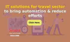 Solve major business issues of TRAVEL INDUSTRY with efficient IT SOLUTIONS offered by SynapseWebSolutions.   Maintain a lasting impact on travellers and increase travel bookings in a short while. Effort, Bring It On, Business, Travel, Viajes, Destinations, Store, Traveling, Trips