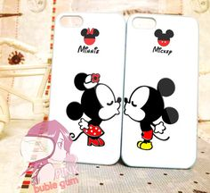 mickey and minnie love couple and logo couple for iPhone 4/4s, iPhone 5, Phone 5s, iPhone 5c, Samsung Galaxy s3, Samsung Galaxy s4 Case on Etsy, $30.00