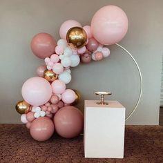 retro dusty pink balloon garland kit maca baby pink gold balloon set Wedding & Engagement b Birthday Balloon Decorations, Birthday Balloons, Baby Shower Decorations, 21st Party Decorations, Balloon Arch Diy, Balloon Garland, Red Balloon, Diy Garland, Rose Gold Balloons