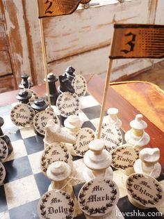 ゼクシィ掲載 / クラシック / テーブルナンバー / アンティーク / チェス / ディスプレイ / ウェディング / 結婚式 / wedding / オリジナルウェディング / プティラブーシュカ